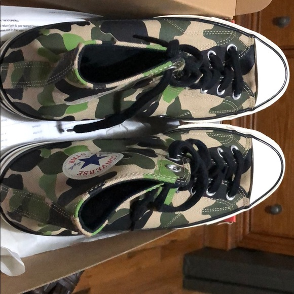 Green converse sneakers